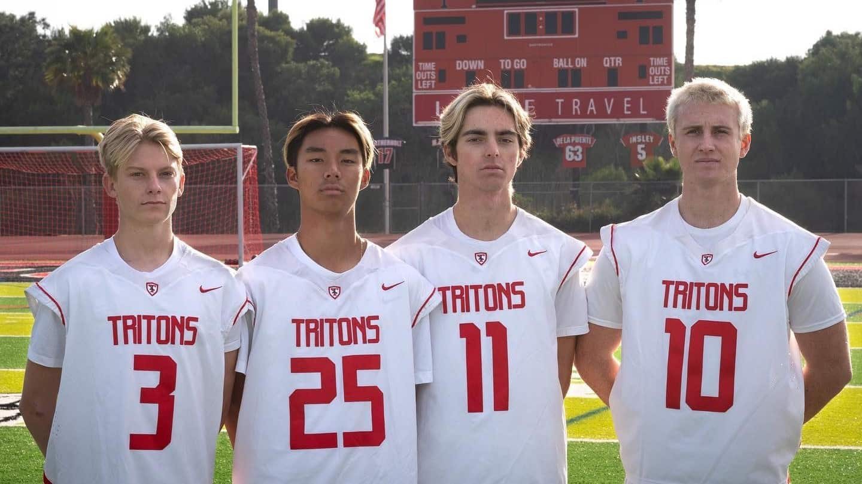 San Clemente boys lacrosse captains.
