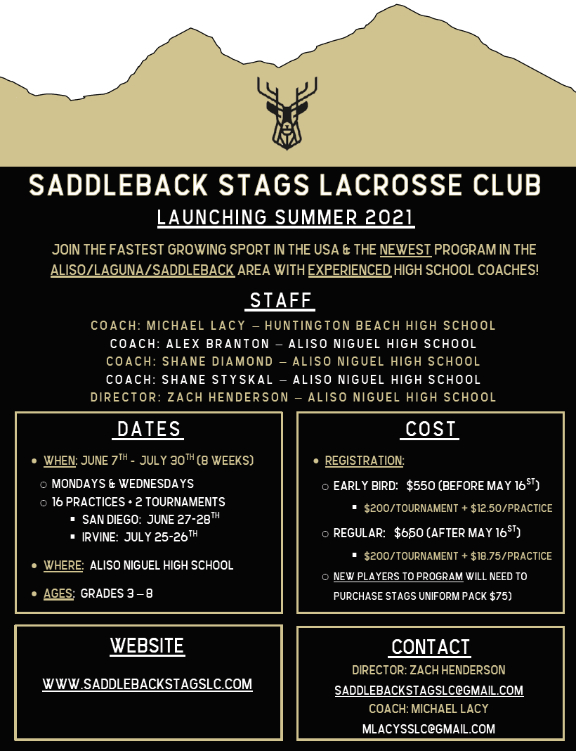 Saddleback Stags Lacrosse Club