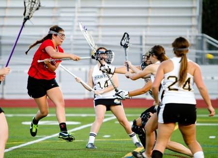 #21 Olivia Merlino whips in a jump shot on goal