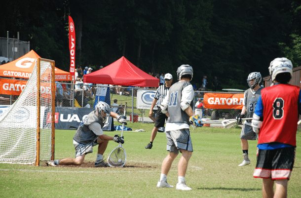 Hoyt Crance in action in the Under Armour games.
