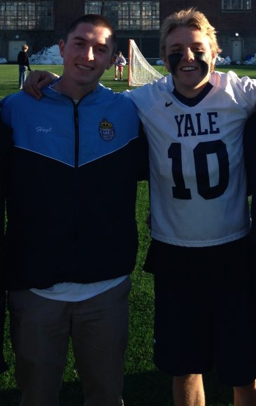Hoyt Crance and Yale's Michale Keasey