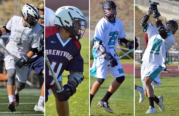 Matt Chopp, Sierra Canyon; Isaiah Harrison, Brentwood; Winston Churchill, Malibu; Noah Gorelick, Malibu