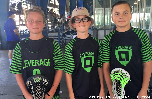 Leverage U13s Ed Shean, Jack Storer and Luc Rettberg