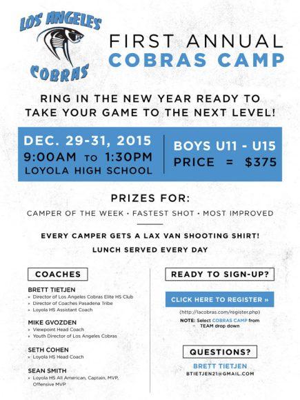 LA Cobras Camp Flyer