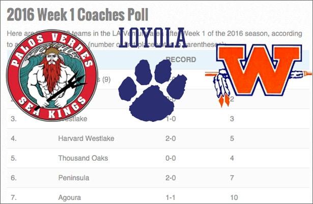 Week 1 Coaches Poll