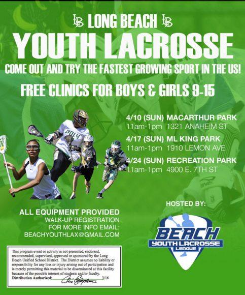 Beach Lacrosse Youth Clinics