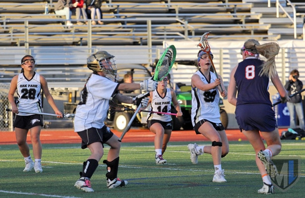 Oak Park girls defense