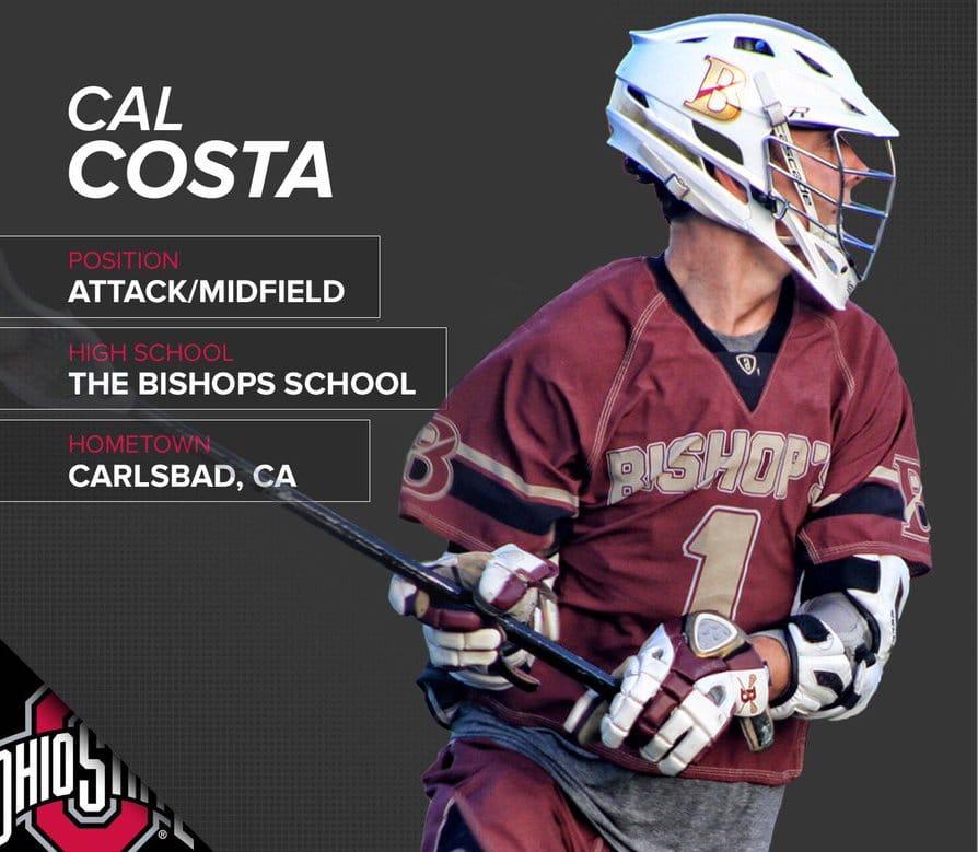 Cal Costa Ohio State Men's Lacrosse