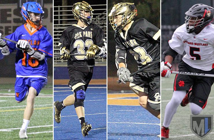 Sophomores: Nick REilly, Westlake; Max Manyak, Oak Park; Tyler Bradbury, Oak Park; Sultan Daniels, Harvard Westlake.