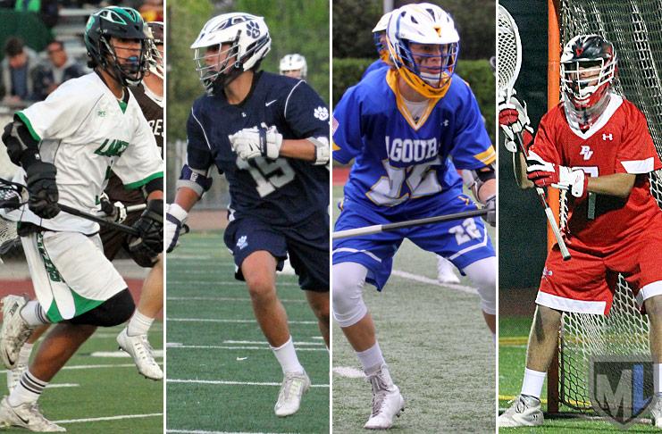 Junior Specialists: FOGO Matt Parham, Thousand Oaks; FOGO Aidan Hesse, Loyola; LSM Cooper Isaacs, Agoura; goalie JJ Barry, Palos Verdes.