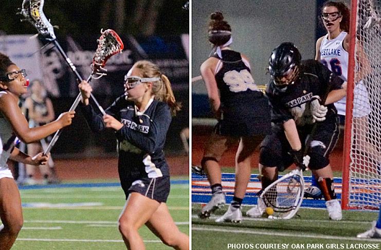 Livi Fagnani and Alexis Robinson, Oak Park girls lacrosse