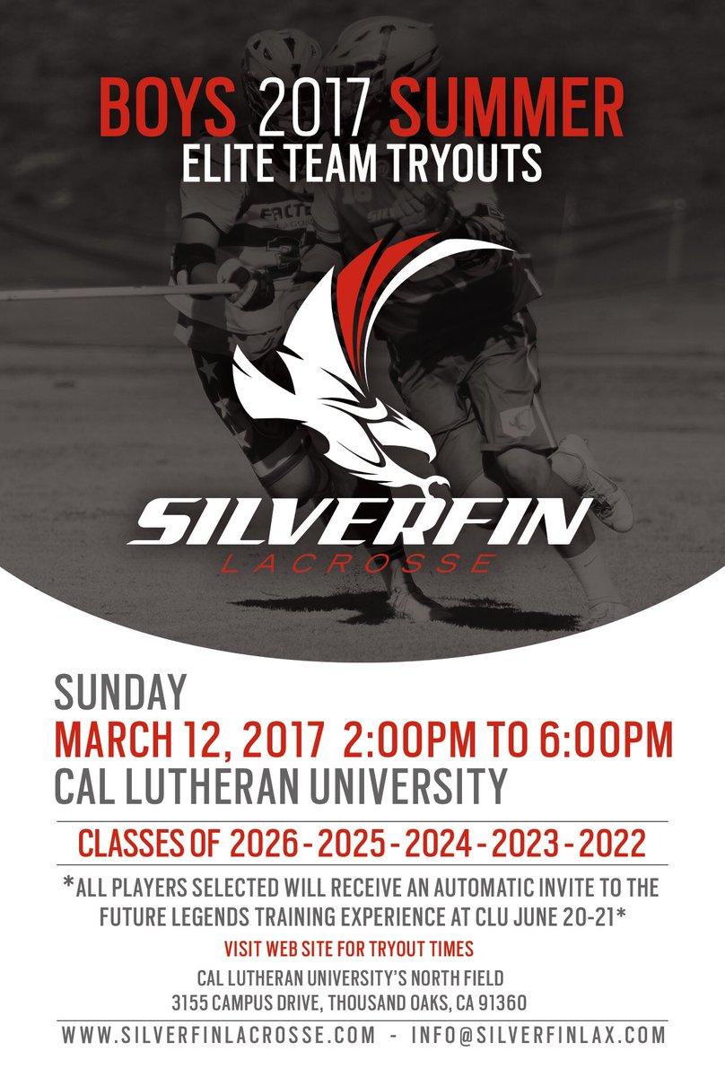 2017 Silverfin Summer Elite tryouts