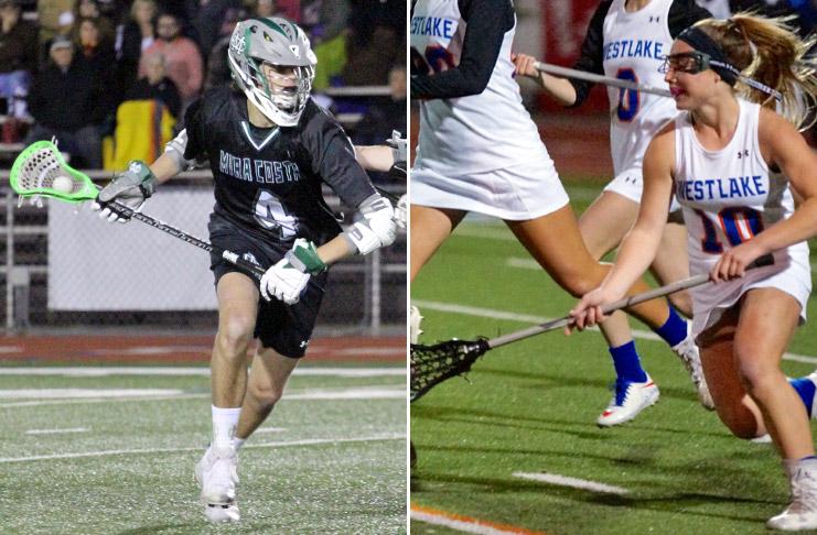 Mira Costa boys lacrosse; Westlake girls lacrosse