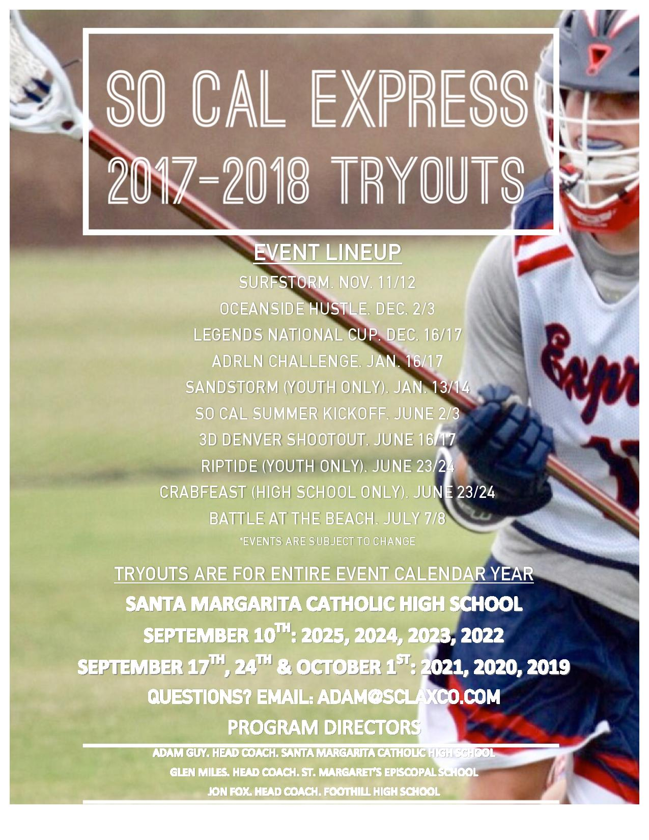 So Cal Express Tryouts