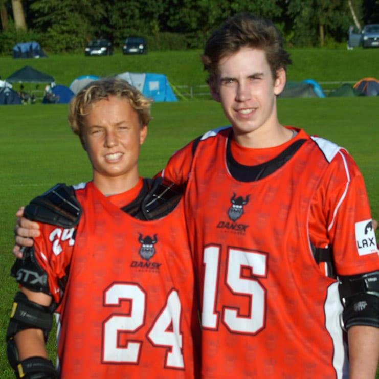 Lukas Roscoe and Oscar Hertz, Denmark Lacrosse