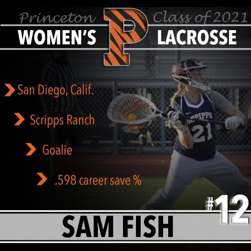Sam Fish, Princeton Women's Lacrosse