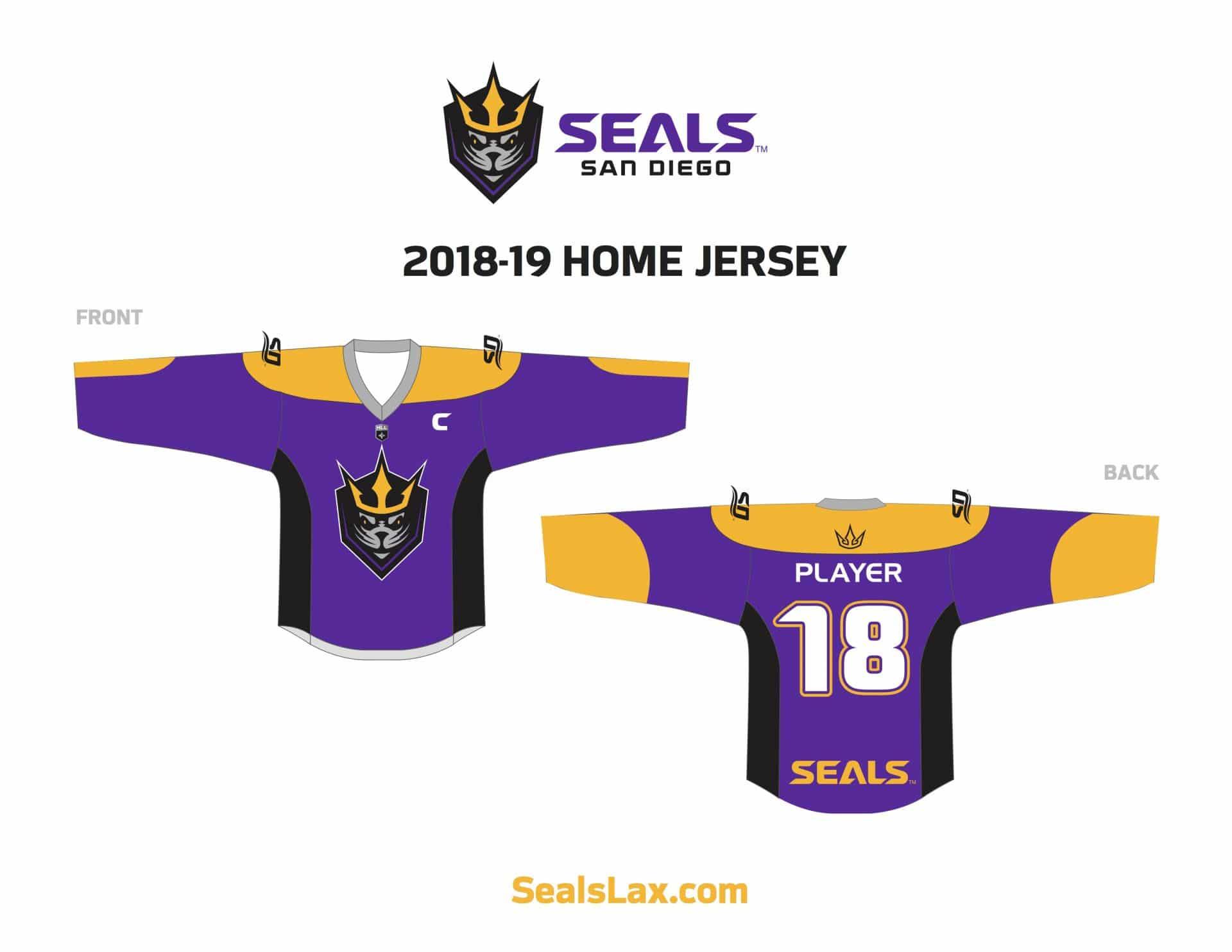 San Diego Seals Home Jersey graphic