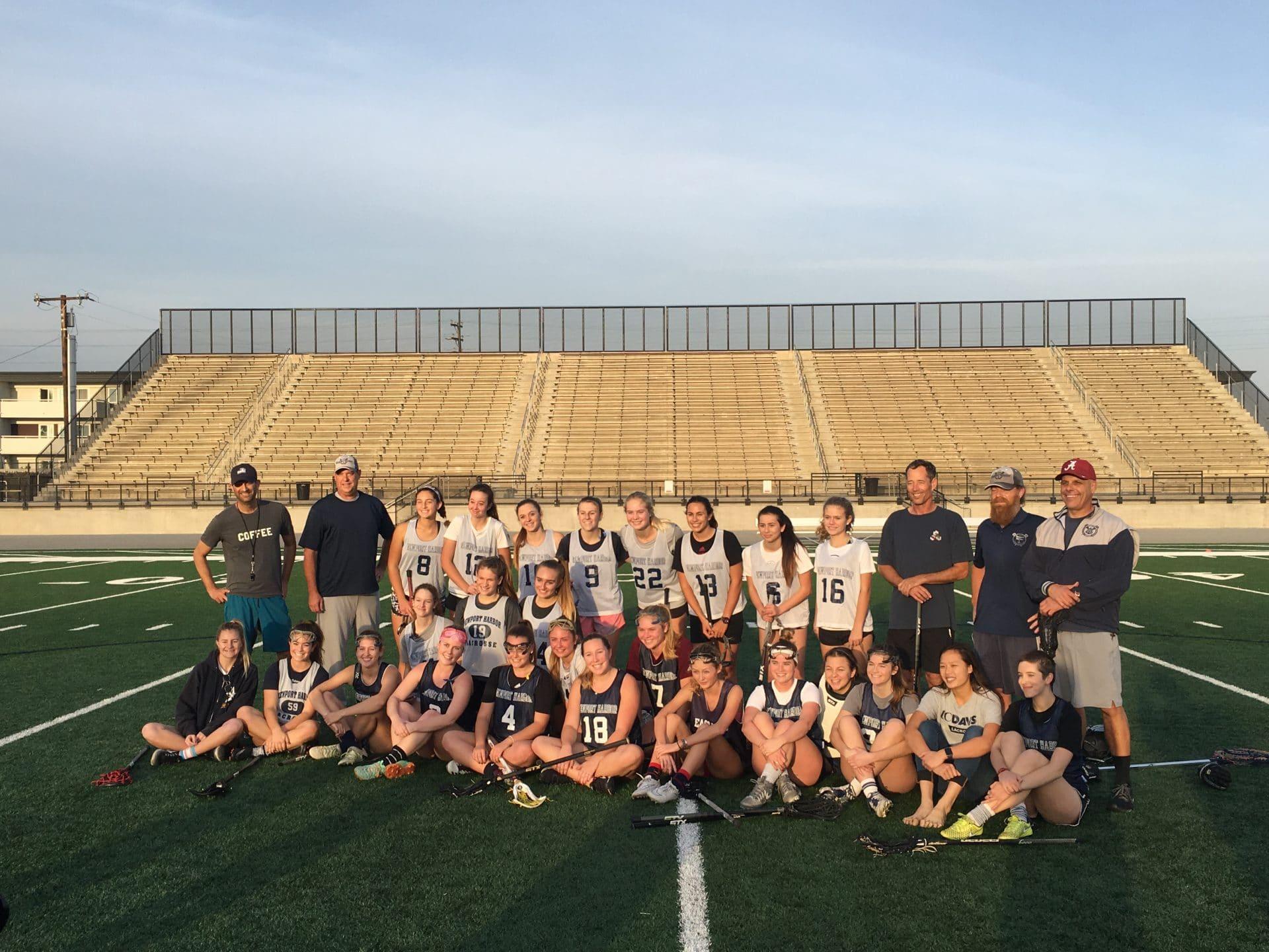 Newport Harbor girls lacrosse alumni game 2018