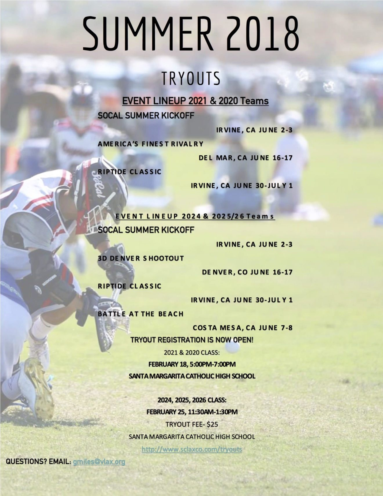 So Cal Express Summer 2018 Tryouts