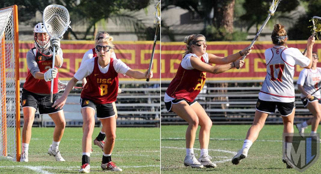 Gussie Johns, goalie; Lydia Sutton, defense