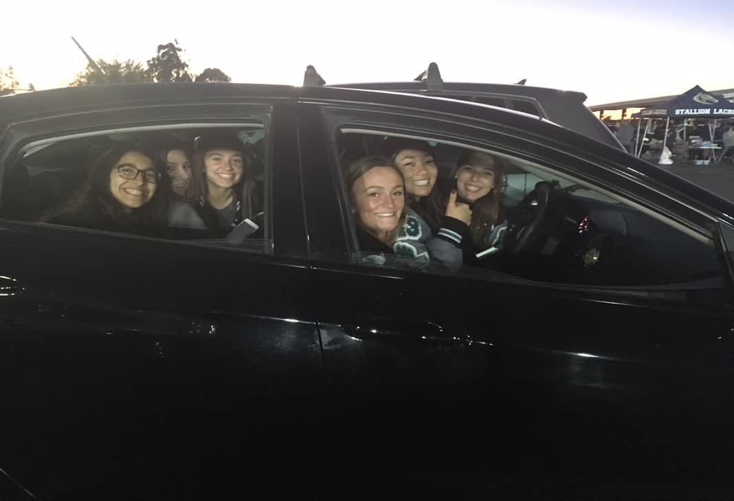 Aliso Niguel girls lacrosse at the Orange County Lacrosse Showcase tailgate party