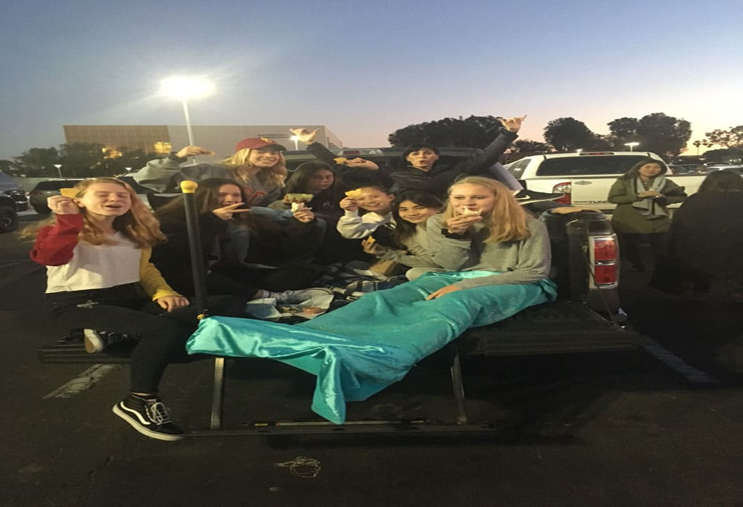 Victory girls lacrosse at the Orange County Lacrosse Showcase tailgate party