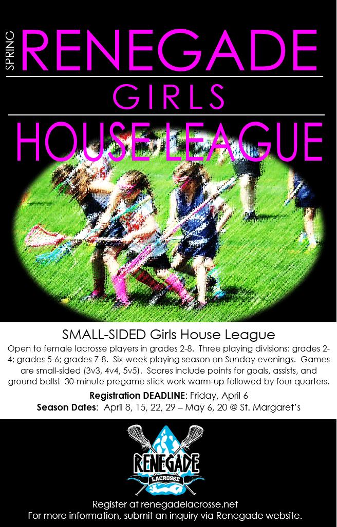 Renegade Lacrosse House League